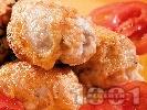 Рецепта Панирани пилешки филета